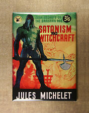Satanism and Witchcraft Refrigerator Magnet Horror Executioner Devil Book cover
