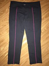 Victoria's Secret VSX Women's Sport Workout Capri Yoga Grey Gray Pink Small S