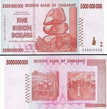 5 BILLION ZIMBABWE DOLLAR ZA, 2008, MONEY CURRENCY.UNC*  USA SELLER*