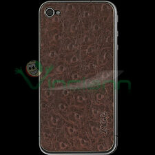 ZAGG Leather Skin vera pelle OSTRICH per iPhone 4 4G
