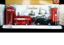 LONDON SOUVENIRS GIFT PACK - BRITISH BUS POST BOX PHONE BOX TAXI SHARPENER SET