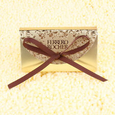 100pcs Wedding Party Favors Bags Candy Gifts Box W/Ribbons Gold Chocolate Box