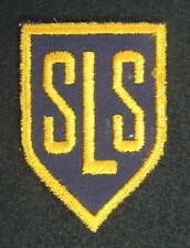 S L S EMBROIDERED SEW ON ONLY PATCH INITIAL PERSONAL COMPANY ADVERTISING