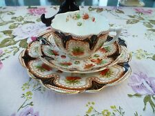 Vintage / Antique Melba English China Trio Tea Cup Saucer Daisy Shape 774