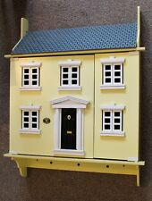 Primrose Cottage House Yellow Vintage Dolls House Wall Shelving Unit Shelf