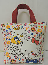 Hello Kitty White/Red w Multi Coloured Floral Printed Girl Causal Hand Bag w/tag