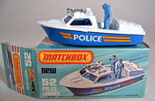 Matchbox SF Nr.52B Police Launch / Polizeiboot blau & weiß top in Box