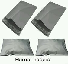 50 x GREY MAILING POSTAGE BAGS, POSTAL POLYTHENE BAGS SELF SEALING BAGS 10 X 6