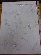 2006/2007 Crewe Alexandra: autógrafos-mano firmada por 18 jugadores/funcionarios de C