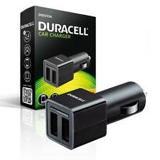 NEW Duracell Twin USB High Output 2.4A Car Power Point Device Charger for USB
