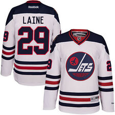 Large Patrik Laine #29 Winnipeg Jets REPLICA Hockey Jersey White Red Blue