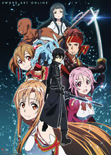 **License Poster* Sword Art Online Yui Kirito Asuna Group Shot Wallscroll #60062