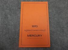 1970 Mercury Owner's User's Guide Manual PN LM-3691-1M-70 First Printing 16834