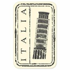 "Italy Italia travel car bumper window suitcase sticker 3"" x 5"""