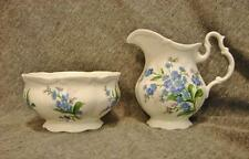 Royal Albert Bone China FORGET ME NOT Mini Creamer & Open Sugar Bowl