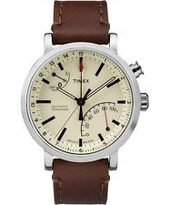 Timex Metropolitan+ TW2P92400 Cream/Brown Leather Analog Quartz Men's Watch