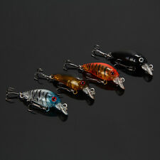 Lot 4Pcs Fishing Lures Kinds Of Minnow Fish Bass Tackle Hooks Baits Crankbait