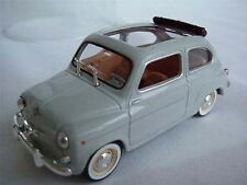 MINT PACKED SEAT FIAT 600 CAR GREY OPEN TOP 1/43RD SCALE CLASSIC MODEL (=)