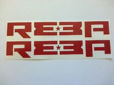 ROCK SHOX REBA decals/stickers 1 PAIR RED 155mm x 52mm