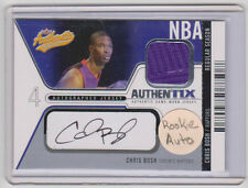 CHRIS BOSH Heat 2003-04 Fleer Authentix AUTOGRAPHED JERSEY Card SP RC #091/100