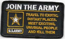 JOIN THE ARMY MILITARY EMBROIDERED  BIKER PATCH