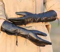 WARMEN Luxury Gift Women Genuine Nappa soft Leather lined long elbow Gloves