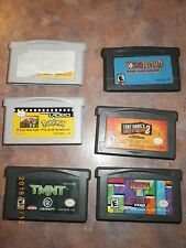 Lot of 6 Gameboy Advance Nintendo Classic Games Yoshi Island Tetris TMNT Pokemon