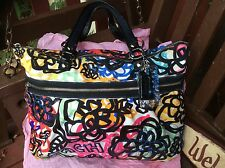 COACH POPPY GRAPHIC BLOSSOM GLAMOROUS MULTICOLOR TOTE SHOULDER BAG 15591