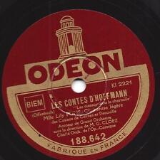 Sopran LILY PONS - SOPRAN :  Hoffmanns Erzählungen - Jacques Offenbach