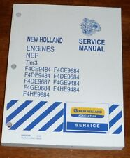New Holland NEF Tier 3 F4CE9484 F4DE9484 F4DE9687 F4GE9684 Engine Service Manual