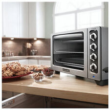 "KitchenAid STEEL 12"" Convection Countertop Toaster Oven MODEL KC0223CU Refurb"