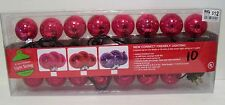 15 RED GLASS ORNAMENT INDOOR/OUTDOOR LIGHTS SET CHRISTMAS DECORATION