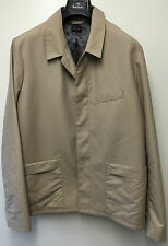 """Paul Smith """"PS"""" Rain / Over Coat Concealed Buttons Beige Size L Pit to Pit 23.5"""