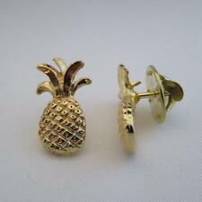 12 Small Pineapple pins gold finish hospitality pins gift idea lapel pin