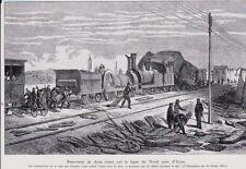 1935  - RENCONTRE DE DEUX TRAINS SUR LA LIGNE DU NORD PRES ARRAS FEV 1864  3B318