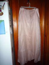 NICOLE MILLER New York Light Pink Silk Vintage Long Skirt Formal skirt 8 long
