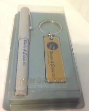 SHEAFFER PEN AND KEYCHAIN FOR BOWLES & EDEN CO ADVERTISING NIB