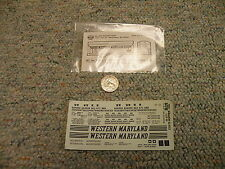 Herald King  decals HO H-271 Western Maryland lt grey ACF covered  hopper  M65