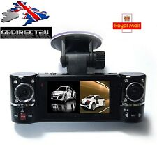 NEW 2016 UK Dual Lens Car Taxi Dash Cam Camera Night Vision DVR Video Recorder