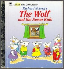 THE WOLF AND THE SEVEN KIDS  Richard Scarry  Children's First Little Golden Book