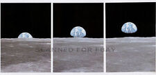 Earthrise PHOTO SET moon NASA Inspirational print picture image photographs