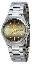 Orient FEM5M012U Men's 3 Star Stainless Steel Brown Dial Automatic Watch