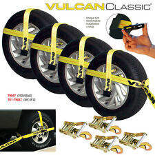 "VULCAN Universal Car Trailer Tie Down Kit - Fits 13"" to 22.5"" Tires"