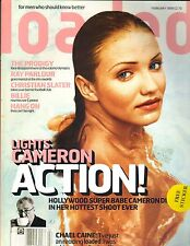 CAMERON DIAZ WET & TOPLESS UK Loaded Magazine 2/99 W/POSTER PC