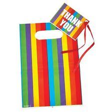 8pk Rainbow Bottino Borse & Etichette Favore Festa Di Compleanno LOOK BAG