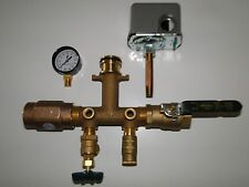 """1x4.5"""" BRASS TANK TEE KIT+VALVES+WELLMATE QUICK CONNECT WM-4-6-9-12 SQUARED 4060"""