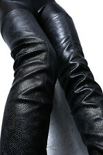 1969 ITALY LEDER HOHE Overknee Lang Stiefel High Heels G72 Stretch Boots Leather