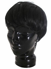 New Fashion male Men's Black Short Straight Wig Handsome Full Hair Wigs