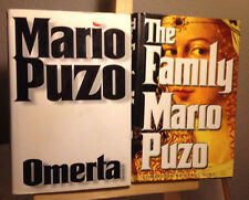 Omerta & The Family  Mario Puzo First Editions Hardcover DJ