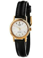 Casio LTP1095Q-7A Ladies Casual Analog Watch Genuine Leather Band Gold Case